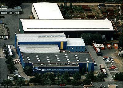 Neubau von Produktionshallen, Meckenheim