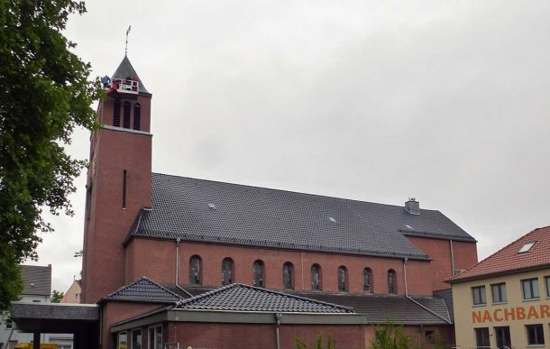 Sanierung Kirchturm St. Barbara, Ehrenfeld